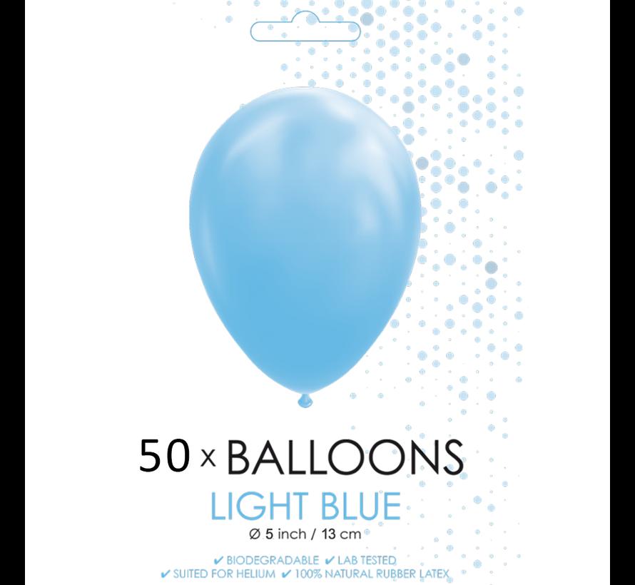 50 Ballonnen lichtblauw 5 inch