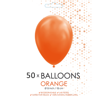 Ballonnen oranje 5 inch