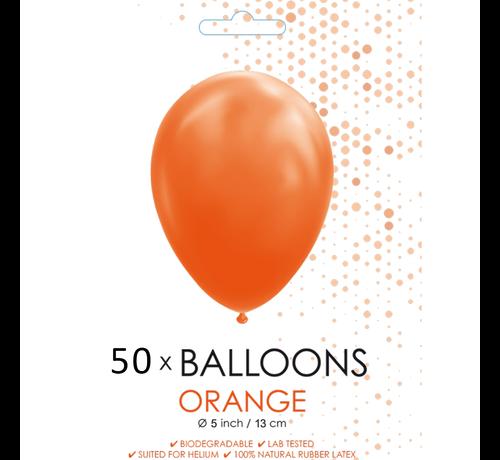 50 Ballonnen oranje 5 inch