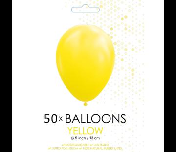 Ballonnen geel 5 inch