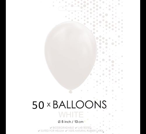 50 Ballonnen wit 5 inch