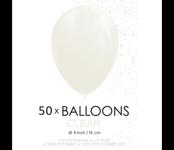 Ballonnen doorzichtig 5 inch