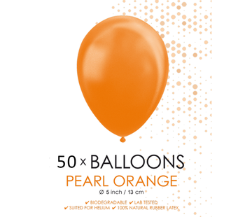 Parel oranje ballonnen klein