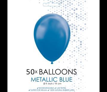 Metallic blauw ballonnen klein