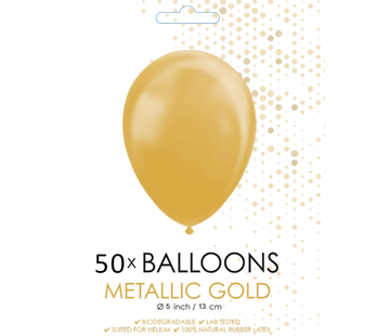 Metallic goud ballonnen klein