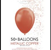 Metallic koper ballonnen klein