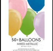 Metallic mix ballonnen klein