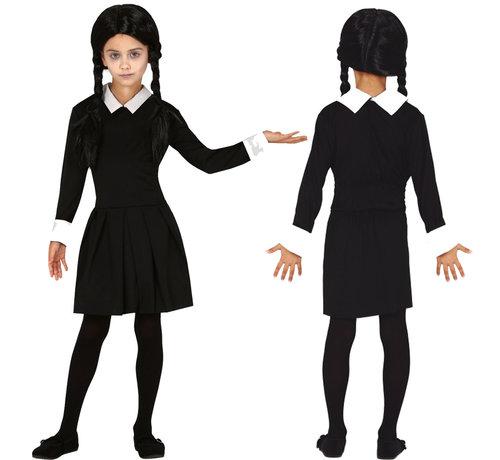 Addams family Wednesday meisje jurkje
