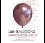 100 chrome 5 inch kleine ballonnen  roségoud