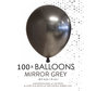 100 chrome 5 inch kleine ballonnen grijs
