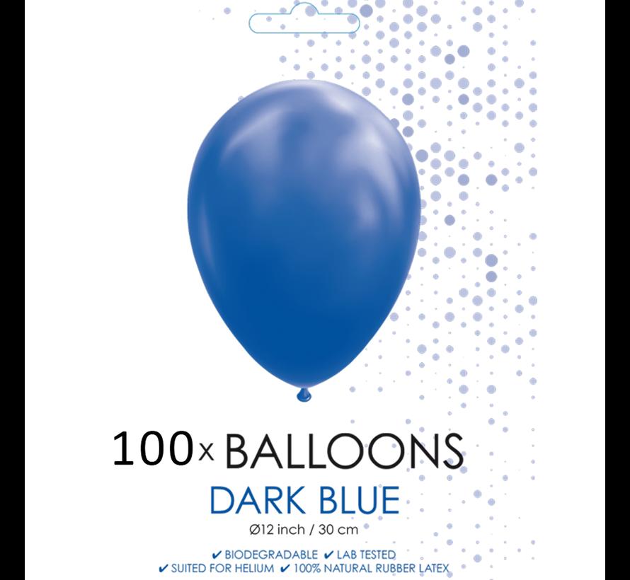 100 ballonnen donker blauw 12 inch