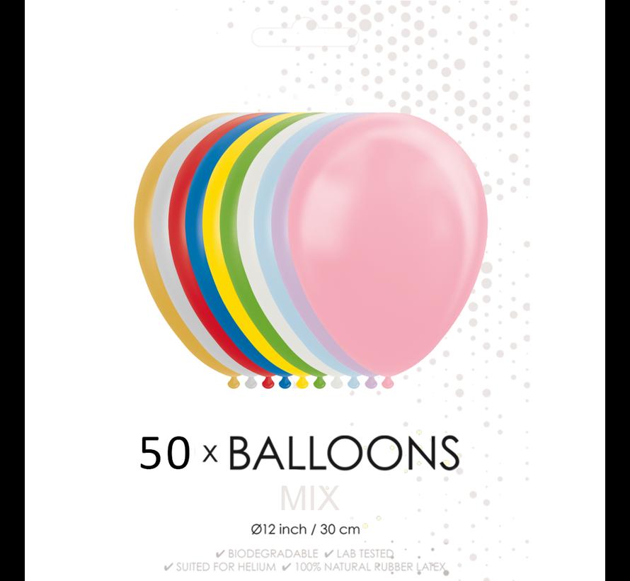 50 ballonnen mix 12 inch