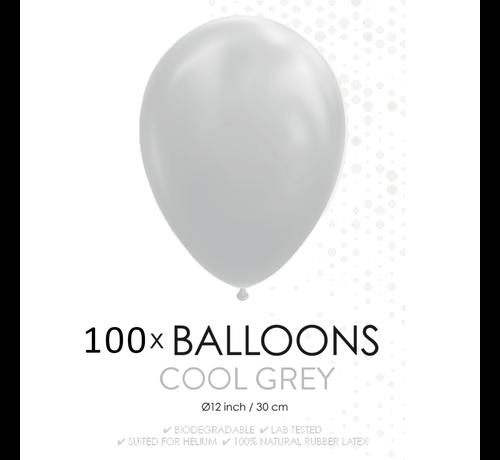 100 ballonnen grijs 12 inch