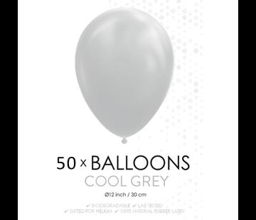 50 ballonnen grijs