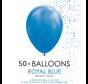 50 ballonnen royaal blauw