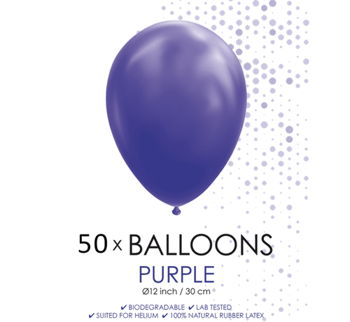 50 ballonnen paars 12 inch