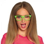 Partybril neongroen