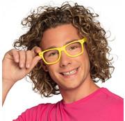 Partybril neon geel