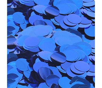 Kleine glitter confetti metallic blauw