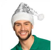 Witte glitter Kerstmuts