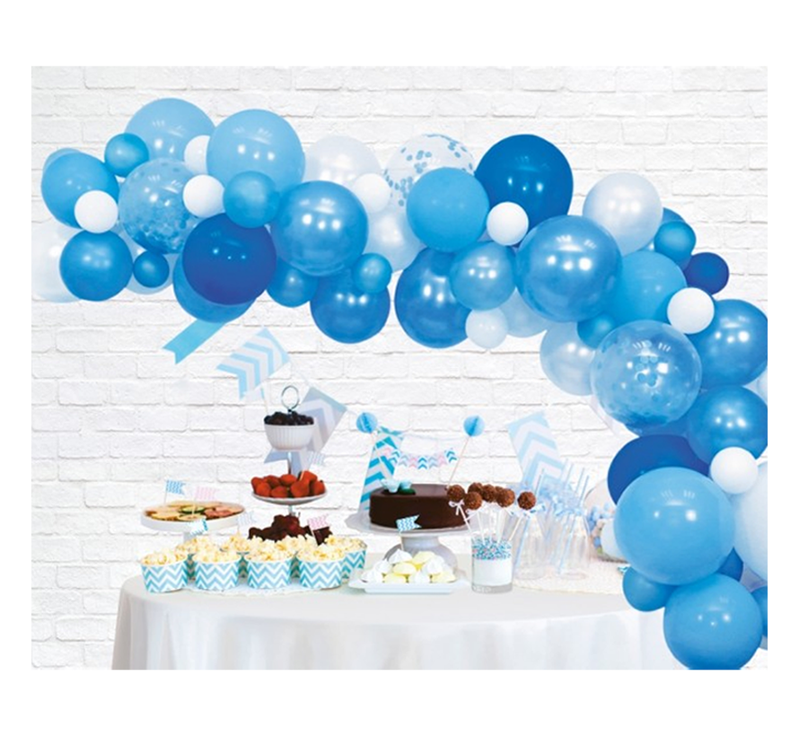 Organic ballonnen slinger baby blauw