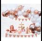 Organic ballonnen slinger Rosé goudkleurig