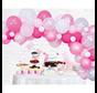 Organic ballonnen slinger baby roze