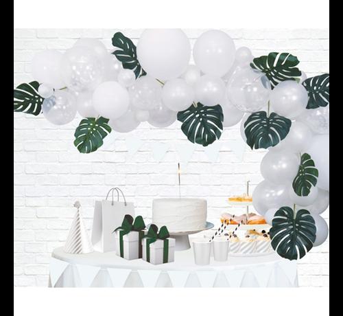 Organic ballonnen slinger wit