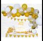 Organic ballonnen slinger goudkleurig