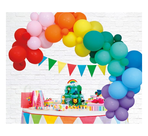 Organic ballonnen slinger regenboog