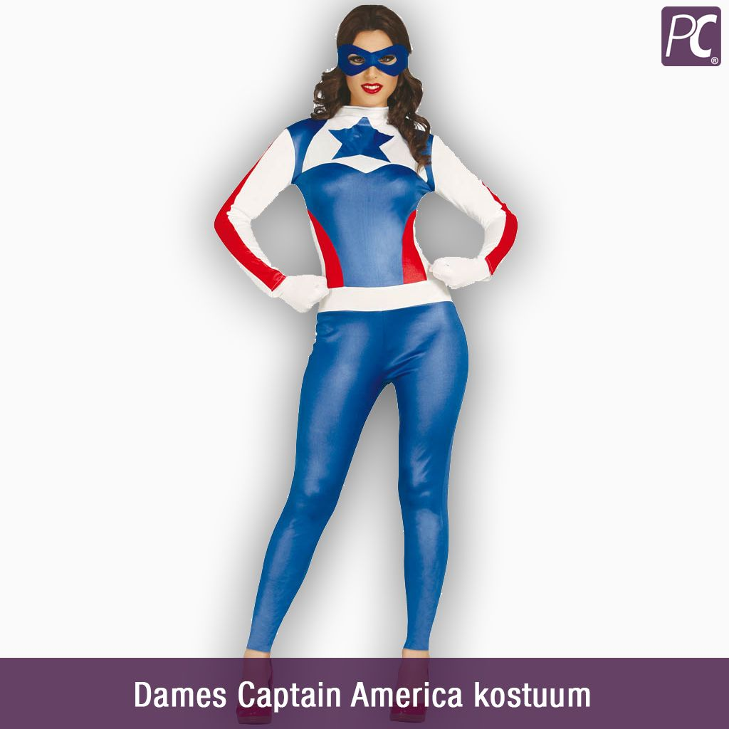 Ongebruikt Dames Captain America kostuum   partycorner.nl VI-37