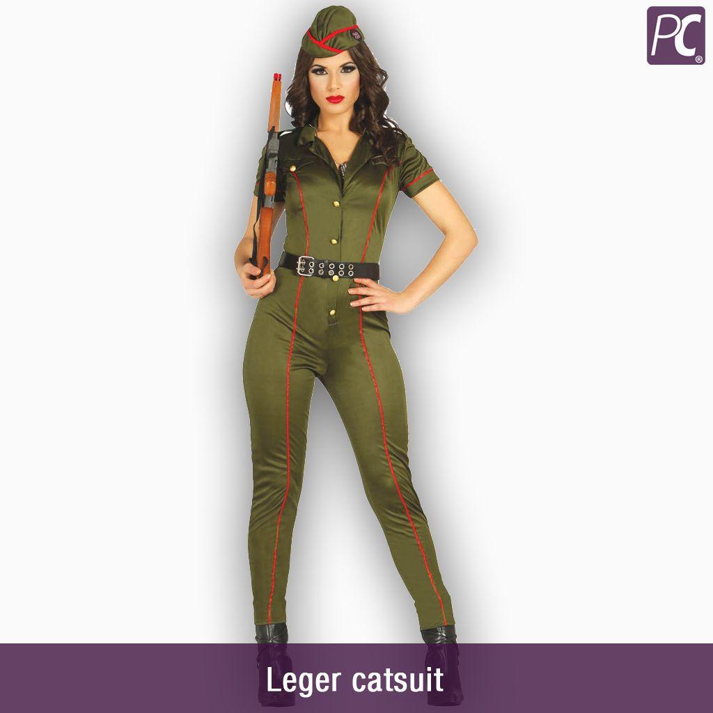 Carnavalskleding Leger Dames.Leger Catsuit Partycorner Nl