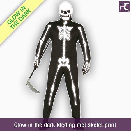 Glow in the dark kleding met skelet print