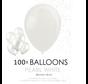 100  Parel witte ballonnen 30 cm