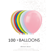 100 Metallic / Pearl ballonnen mix