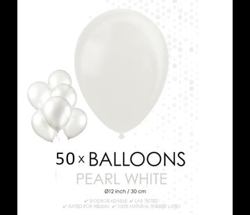 Witte ballonnen 30 cm