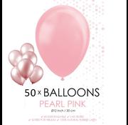 50 Parel roze ballonnen
