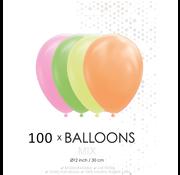 100 Neon ballonnen