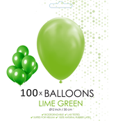 100 ballonnen lime groen