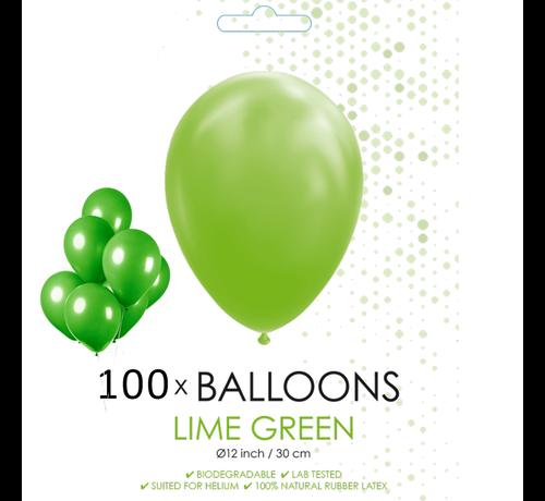 100 ballonnen lime groen 12 inch
