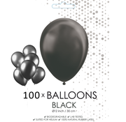 100 ballonnen zwart