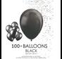 100 ballonnen zwart 12 inch
