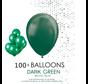 100 ballonnen donker groen 12 inch