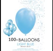 100 ballonnen licht blauw