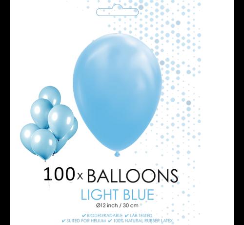 100 ballonnen licht blauw 12 inch