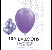 100 ballonnen lavendel