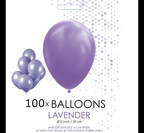 100 ballonnen lavendel 12 inch