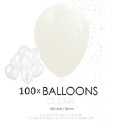 100 ballonnen doorzichtig