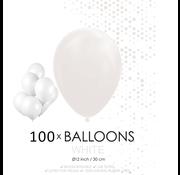 100 ballonnen wit