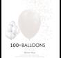 100 ballonnen wit 12 inch
